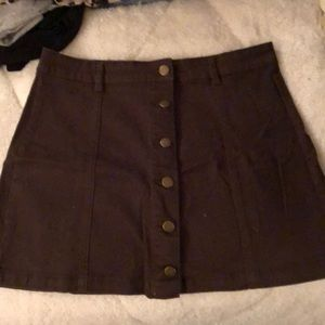 2 FOR $20 deal! Brown button up skirt